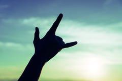 Älska himlen med en hand Royaltyfria Foton