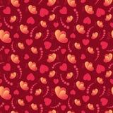 Älska hjärtor och modellen för dag för fjärilsvalentin` s den sömlösa vektor illustrationer