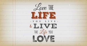 Älska livet som du bor citationsteckentappninganimering