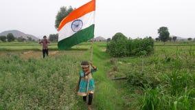 Älska min Indien flagga Royaltyfria Bilder
