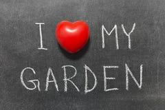 Älska min trädgård Arkivbild