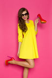 Älska nya skor Royaltyfri Bild