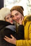 Älska par på romantiker gå Royaltyfria Bilder