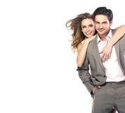 Älska par som skrattar och posera Royaltyfri Fotografi