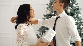 Älska partonåringar och jul lager videofilmer