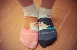 älska sockor Arkivbild