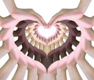 älska symbolet Fotografering för Bildbyråer