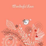 älska vykortet Royaltyfri Foto