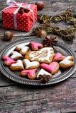 Älskade julkakor Arkivfoton