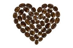Älskling för kaffebönor Arkivfoto