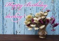 Älskling för lycklig födelsedag Arkivbilder