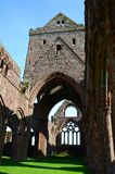 Älsklingabbotskloster, Dumfries & Galloway Arkivfoto