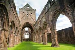 Älsklingabbotskloster, Dumfriesshire, Skottland Royaltyfria Bilder