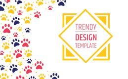 älsklings- advertizingbanermallar placera text den veterinär- kliniken och zoo shoppar ansa tafsa prydnaden vektor illustrationer