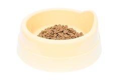 Älsklings- bunke för mat och vatten till hälsan av husdjur Arkivfoto
