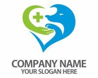Älsklings- medicinsk logo för hund Arkivfoto