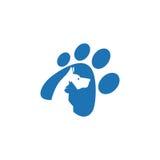 Älsklings- och veterinär Logo, djur vängrupp royaltyfria foton