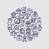 Älsklings- shoppa och den isolerade logoen för veterinärklinikvektorn royaltyfri illustrationer