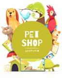 Älsklings- shoppa rambakgrund stock illustrationer