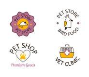 Älsklings- shoppa symboler Vektor Illustrationer