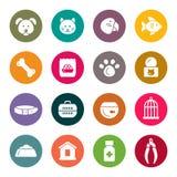 Älsklings- shoppa symboler royaltyfri illustrationer