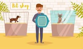 Älsklings- shoppa vektorn cartoon Isolerad konstman vektor illustrationer