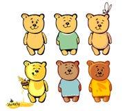 Älskvärd björn för din tecknad film 2 Royaltyfria Foton