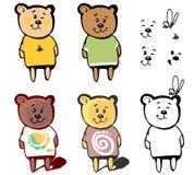 Älskvärd björn för din tecknad film Arkivbilder