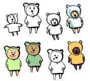 Älskvärd björn i tecknad filmstil Royaltyfri Fotografi