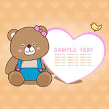 Älskvärd björnkortsamling No.01 Arkivfoton