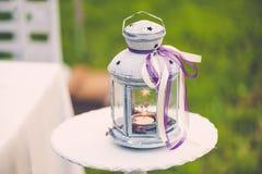 Älskvärd bröllopdekor Arkivfoto