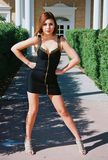 älskvärd brunettflicka Royaltyfria Bilder