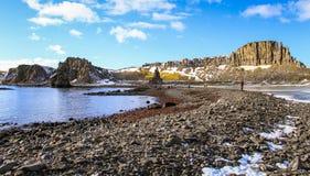 Älskvärd dag på de södra Shetland öarna, Antarktis Arkivfoton