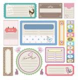 älskvärd etikettsetikett för gåva royaltyfri illustrationer