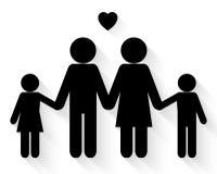 Älskvärd familjsymbolsvektor royaltyfri illustrationer