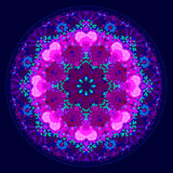 Älskvärd kalejdoskopisk mandalaprydnad Arkivbild