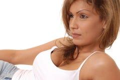 älskvärd kvinna för brunett 2 Arkivbilder