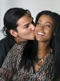 älskvärd kyss Arkivbilder