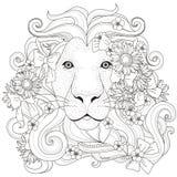 Älskvärd lejonfärgläggningsida royaltyfri illustrationer