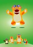 Älskvärd leksakbjörn Royaltyfri Illustrationer