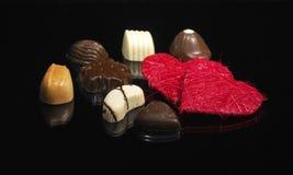 älskvärd lyx för choklader arkivfoton