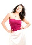 älskvärd magentafärgad överkant för flicka Arkivbild