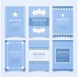 Älskvärd packe av jasminkort Arkivbilder