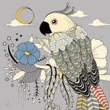 älskvärd papegoja vektor illustrationer