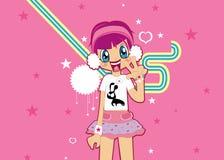älskvärd pink för flicka Arkivfoto