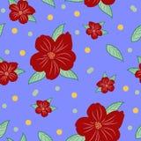 Älskvärd sömlös modell av blommor Ändlös bakgrund Royaltyfria Bilder