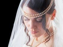 Älskvärd sinnlig brud i damunderkläder Royaltyfria Bilder