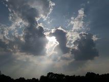Älskvärd solbild Arkivfoto