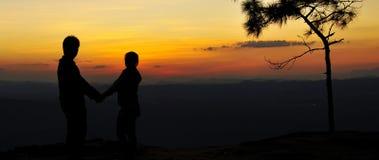 Älskvärd solnedgång Royaltyfri Foto