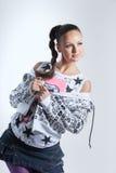 älskvärd ståendekvinna Fotografering för Bildbyråer